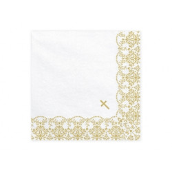 Serviettes Communion or (x20)