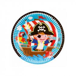 Assiettes Pirates (x8)