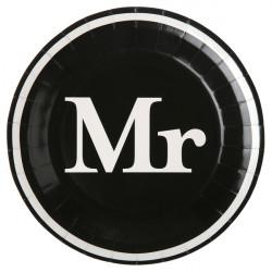 Assiettes MR noir (x10)