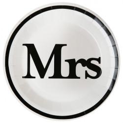 Assiettes MRS blanc (x10)
