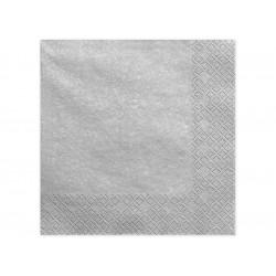 Serviettes argenté 40x40cm (x20)