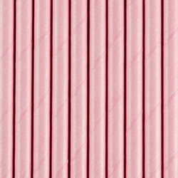 Pailles light pink (x10)