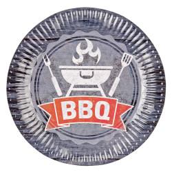 Assiettes BBQ party (x8)