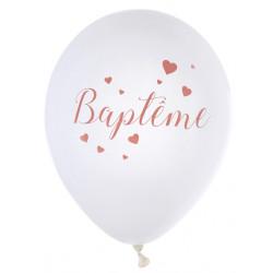 Ballons Baptême corail (x8)