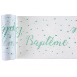 Chemin de table Baptême mint 5m