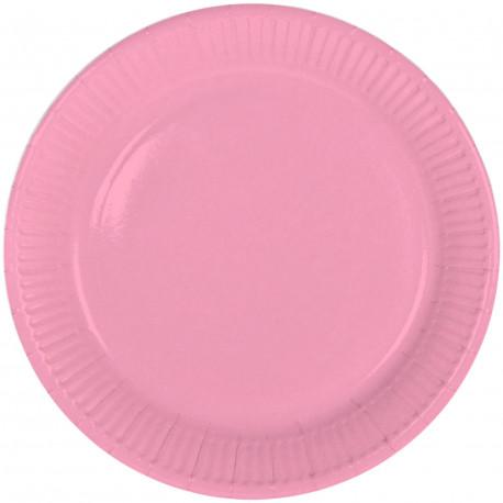 Assiettes rose 23cm (x8)