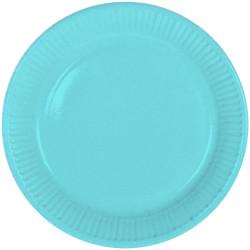 Assiettes bleu 23cm (x8)