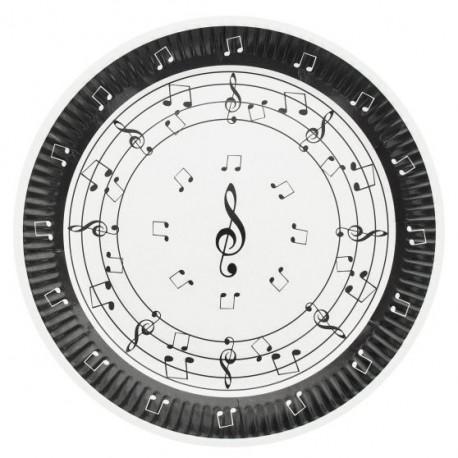 Assiettes musique (x10)