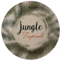 Assiettes jungle trop.vert 23 cm(x10)