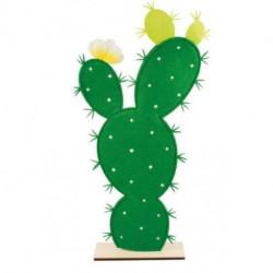 Cactus feutre pied bois 27x55,5cm