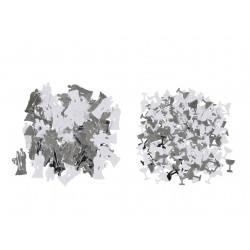 Confettis blancs argent mariage