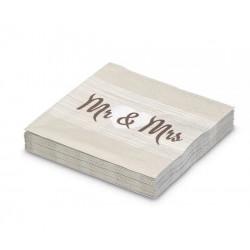 Serviettes Mr et Mrs (x20)