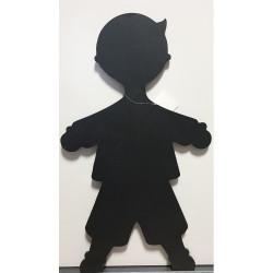 Tableau bois noir garçon