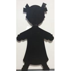 Tableau bois noir fille