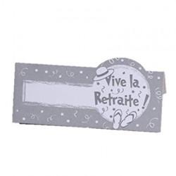 Cartes tab. vive retraite gris (x10)