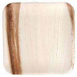 Assiettes feuille palme 24x24cm  (x4)