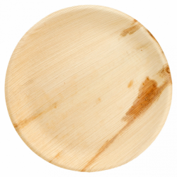 Assiettes rondes palmier 22cm (x4)