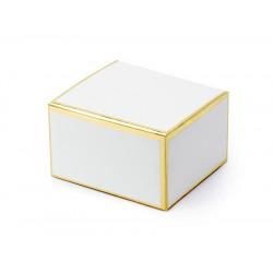 Boites blanc et or 6x3.5x5.5cm (x10)